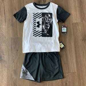 Bundle of Boys Under Armour shirt and shorts